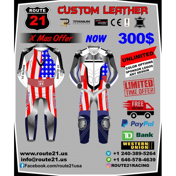 Custom Racing racing suit X Mas offer E mail info@route21.us