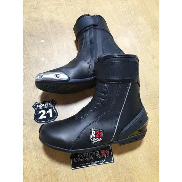 Drag Racing boots with inside Iron slider