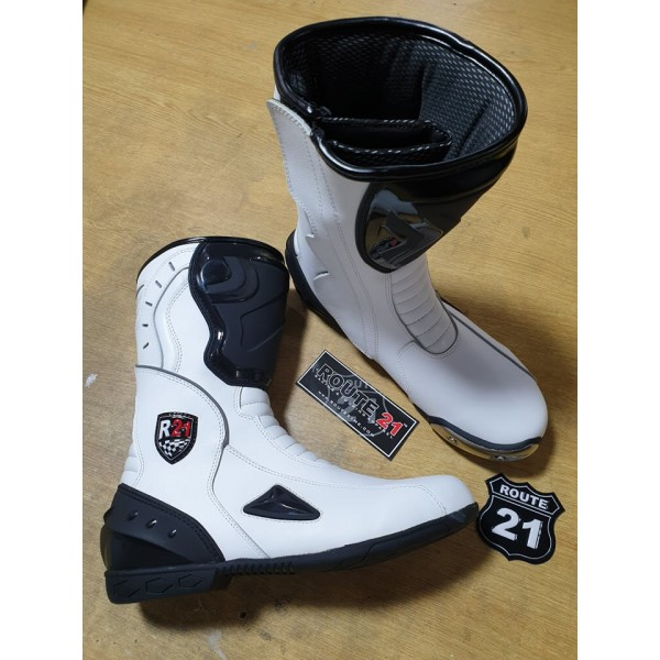 Long drag racing boots with Inside slider