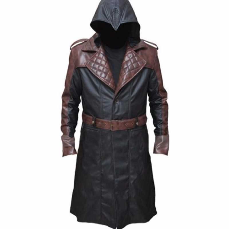 Jacob Frye_s Brown Trench Leather Coat from Assassins Creed Syndicate