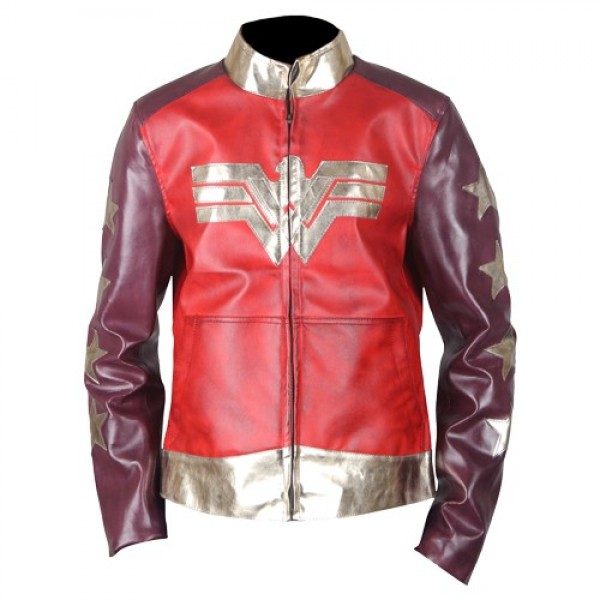 Wonder Woman Faux Leather Jacket 2017