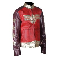 Wonder Woman Faux Leather Jacket 2017