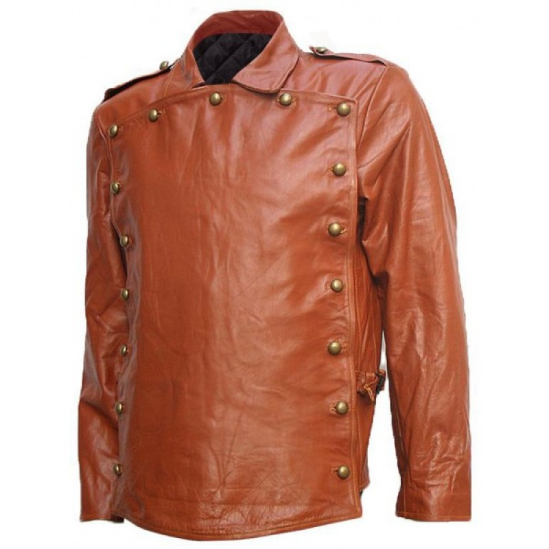 Billy Campbell Tan The Rocketeer Leather Jacket