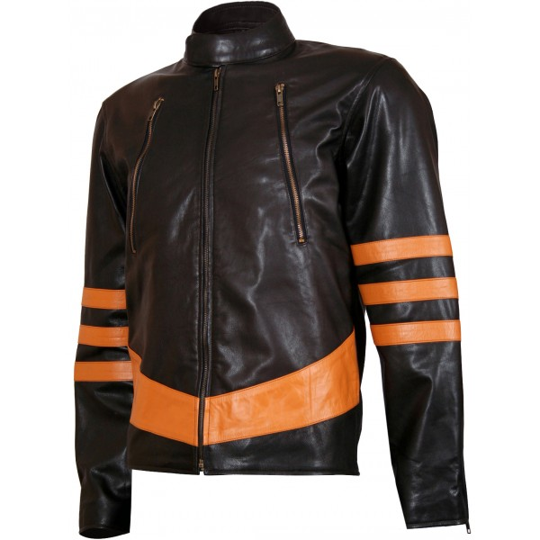 Origins Biker Style Brown X-MEN Wolverine Leather Jacket
