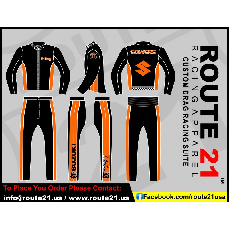 388fe6a3c2b Deal 5 Custom Drag racing suit X Mas offer E mail info@route21.us