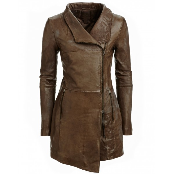 Slim fit Leather Coat