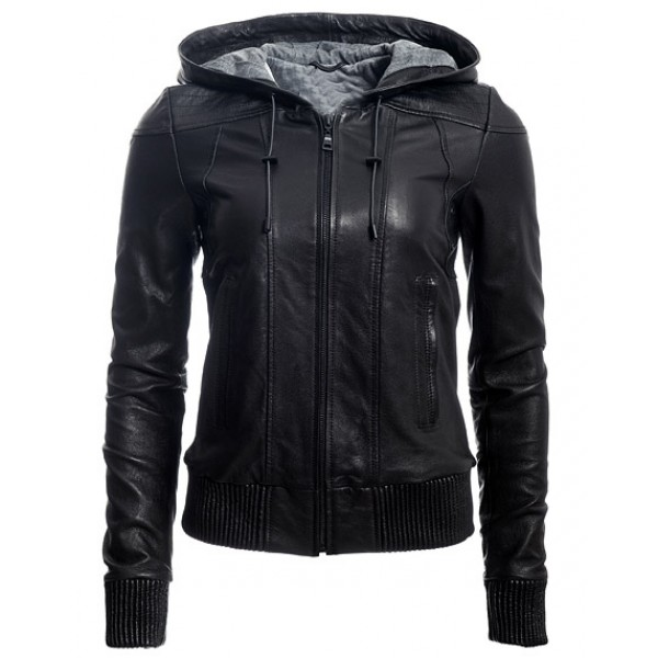 women Hooded Bomber Jacket
