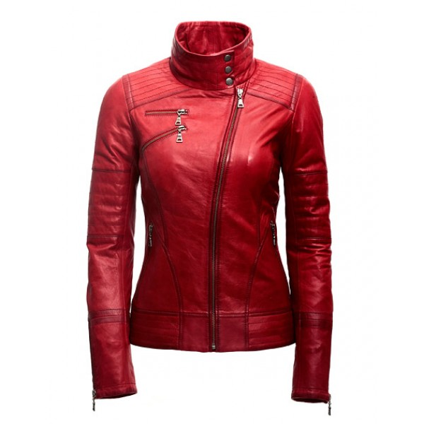 Women Fashion Leather Jacket