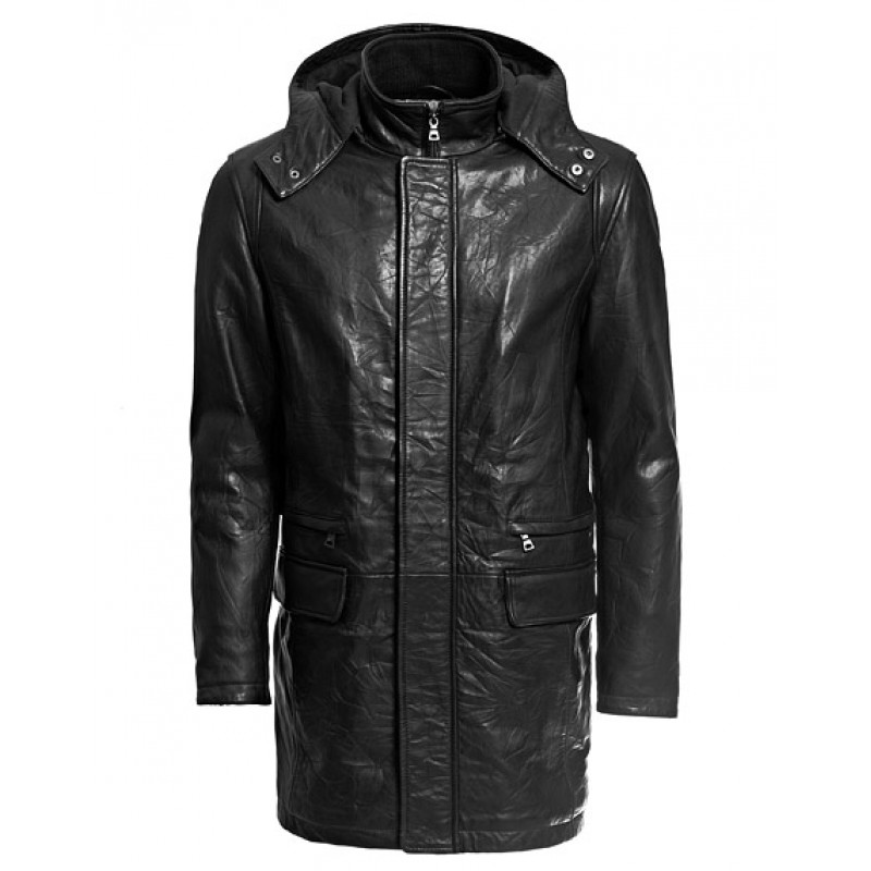Men's Leather Winter Coat