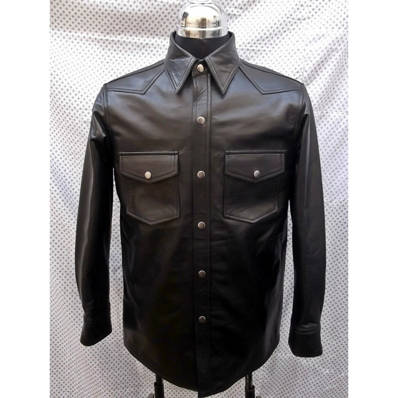 LAMBSKIN LEATHER SHIRT CUSTOM MADE STYLE
